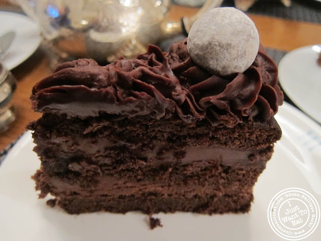 Image of Chocolate cake at  Fortnum & Mason in London, England