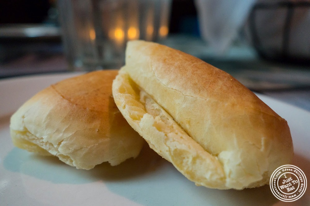 cheese bread at Sounds Of Brazil SOB's in NY, New York