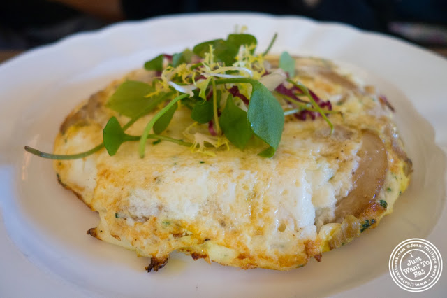 image of egg white frittata with mushrooms at Lafayette in Greenwich Village, NYC, New York