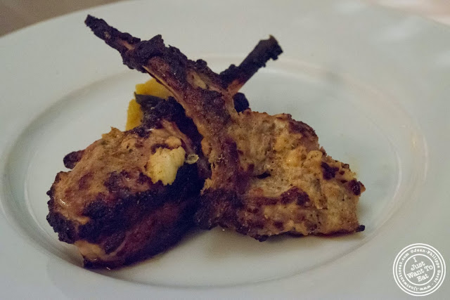 image of tandoor grilled lamb chop at Tulsi, Indian restaurant in Midtown East, NYC, New York