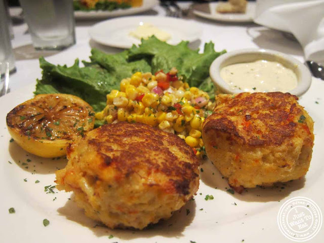 lobster and crab cakes at The Capltal Grille in Midtown, NYC, New York