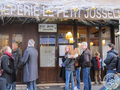 Image of the Entrance of the creperie Le Petit Josselin in Paris, France