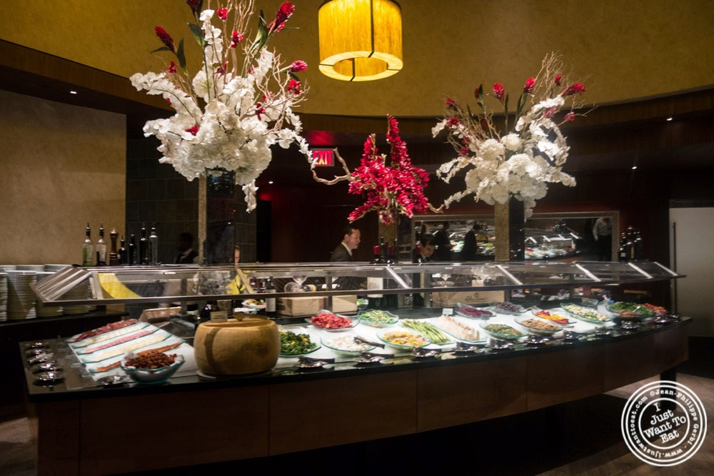 image of gourmet salad bar at Fogo De Chao Brazilian steakhouse in NYC, New York