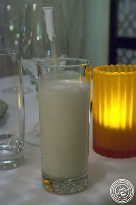 image of sweet lassi at Tulsi, Indian restaurant in Midtown East, NYC, New York