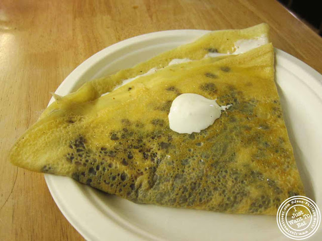 Image of S'mores crepe at Cafe Jolie in Hell's Kitchen, NYC, New York