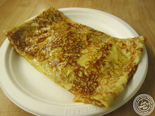 Image of Ham and cheese crepe at Cafe Jolie in Hell's Kitchen, NYC, New York