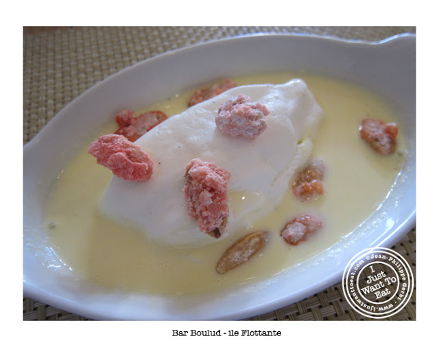 Image of Ile flottante or floating island at Bar Boulud in NYC, New York