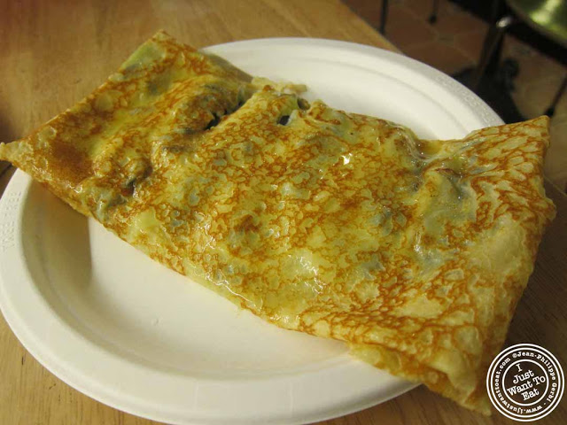 Image of La petite mort crepe at Cafe Jolie in Hell's Kitchen, NYC, New York