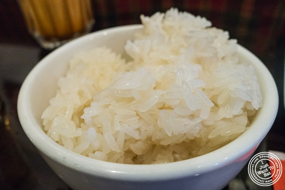 sticky rice at Larb Ubol, Thai restaurant in Hell's Kitchen, NYC, New York