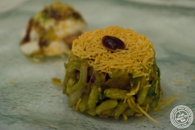 image of Avocado Jhal Muri at Tulsi, Indian restaurant in Midtown East, NYC, New York