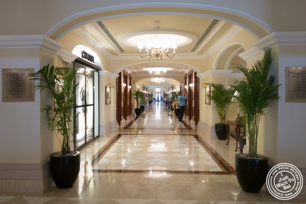 Hallway of the Imperial Hotel in Delhi, India