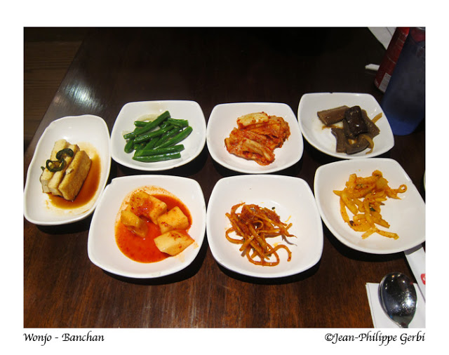 Image of Banchan at Wonjo Korean Restaurant in Koreatown NYC, New York