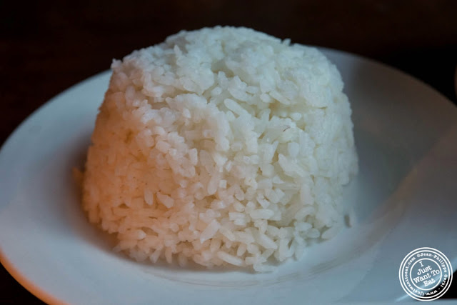 image of white rice at Glow Thai restaurant and lounge in Bay Ridge Brooklyn, New York