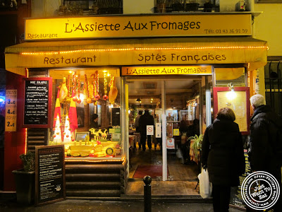Image of the Entrance of L'assiette aux deux fromages in Paris, France