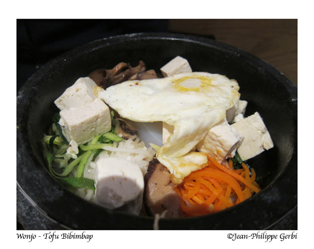 Image of Tofu Bibimbap at Wonjo Korean Restaurant in Koreatown NYC, New York