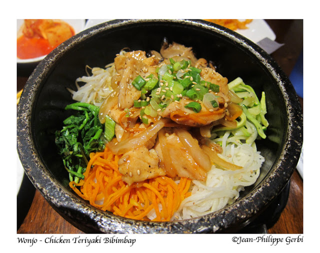 Image of Chicken Teriyaki Bibimbap at Wonjo Korean Restaurant in Koreatown NYC, New York