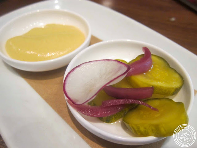 image of pickles for Croque madame at Tom Colicchio's Craftbar in NYC, New York