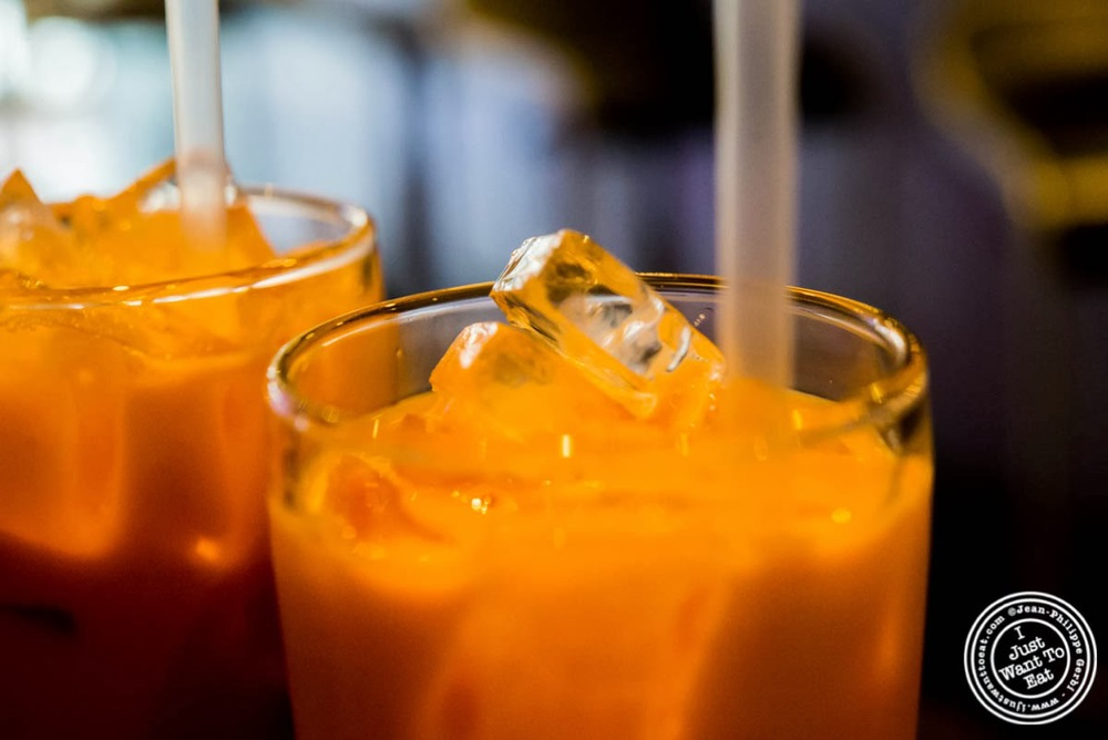 image of Thai Iced tea at E-San Thai in Murray Hill, NYC, New York