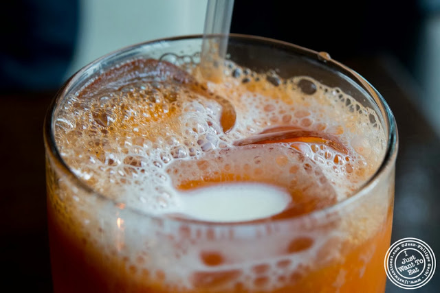 image of Thai iced tea at Glow Thai restaurant and lounge in Bay Ridge Brooklyn, New York
