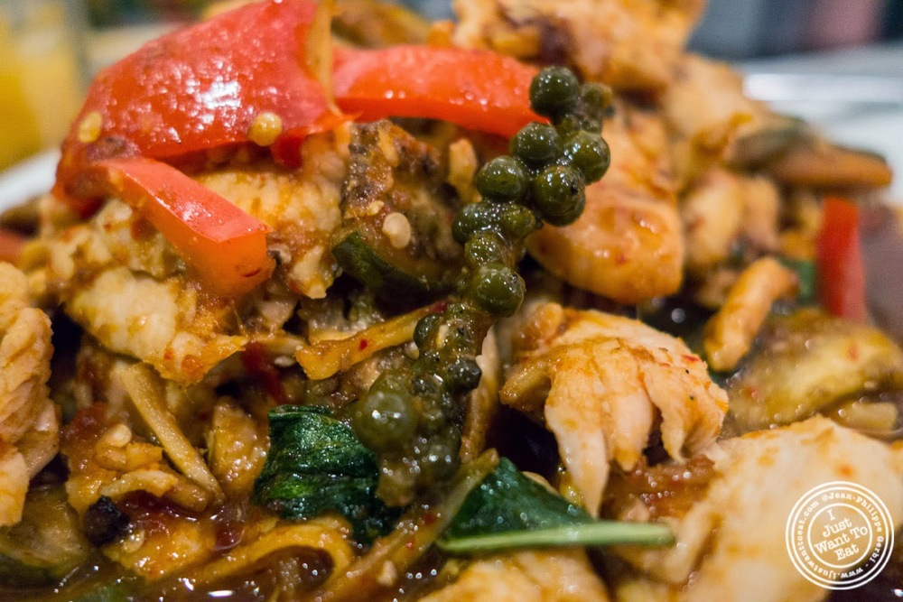 Chicken Pad Ped at Larb Ubol, Thai restaurant in Hell's Kitchen, NYC, New York