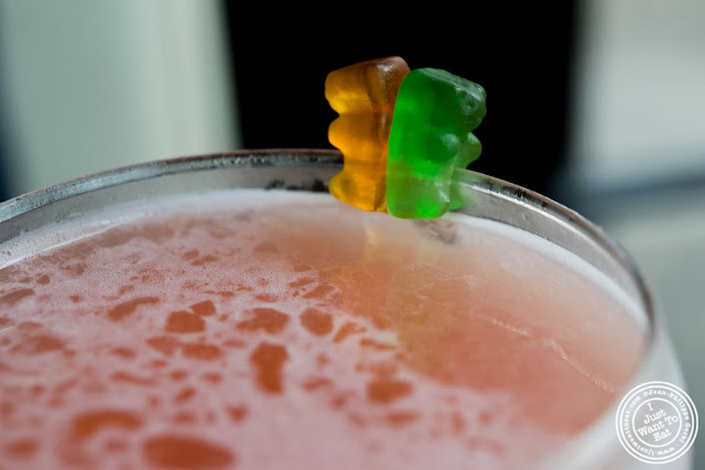 image of drunken gummy bear at Glow Thai restaurant and lounge in Bay Ridge Brooklyn, New York
