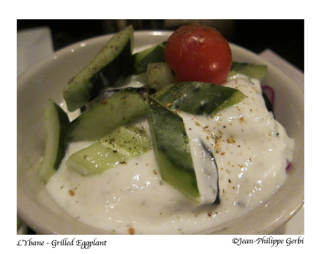 Image of Grilled eggplant with yogurt at L'Ybane in NYC, New York