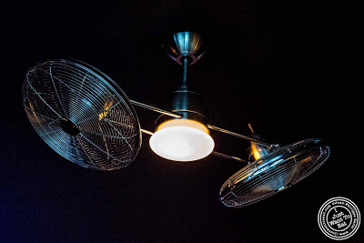 image of rotating fan at Glow Thai restaurant and lounge in Bay Ridge Brooklyn, New York