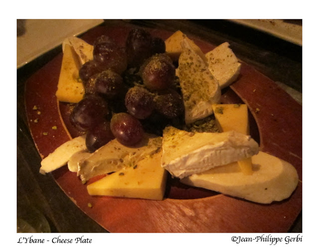 Cheese plate at L'Ybane in NYC, New York