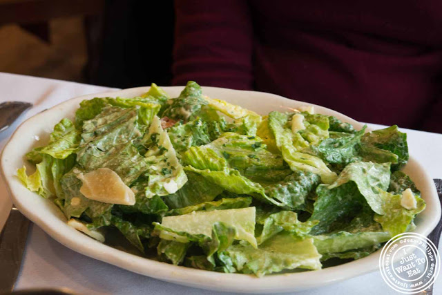 Image of Caesar salad at Trattoria Saporito in Hoboken, NJ