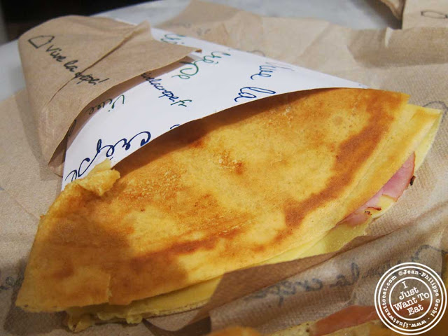 Image of Ham and gruyere crepe at Vive La Crepe in Greenwich Village, NYC, New York