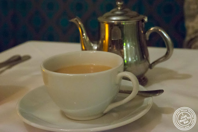 image of Chai tea at Tulsi, Indian restaurant in Midtown East, NYC, New York