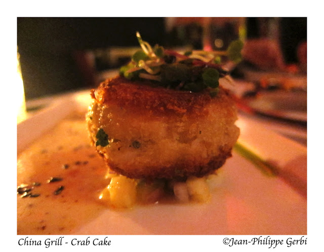 image of Crab cake at China Grill, midtown, NYC, New York