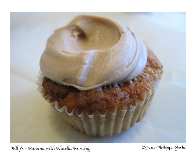 Image of Banana nutella cupcake at Billy's bakery in NYC, New York