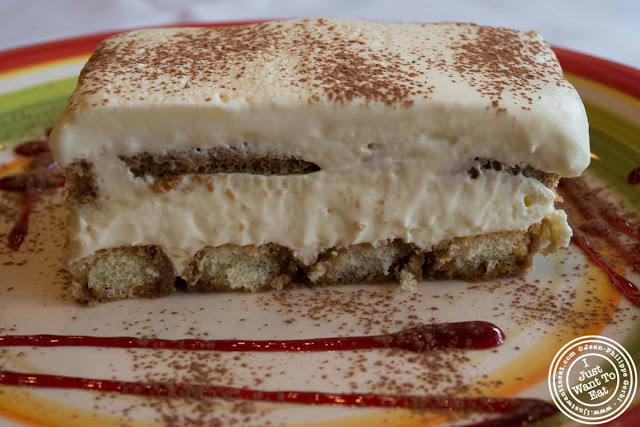 Image of Tiramisu at Trattoria Saporito in Hoboken, NJ