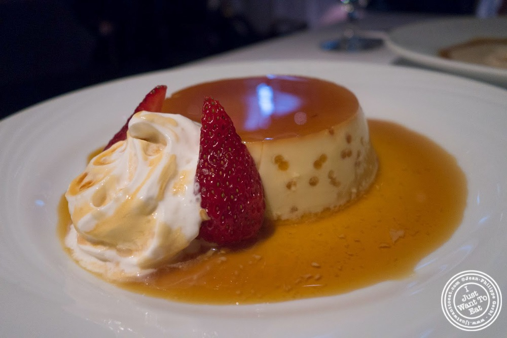image of flan at Fogo De Chao Brazilian steakhouse in NYC, New York