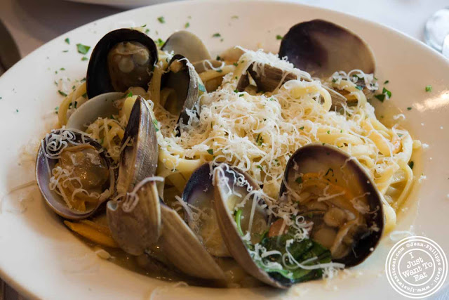 Image of Linguine a la Vongole at Trattoria Saporito in Hoboken, NJ