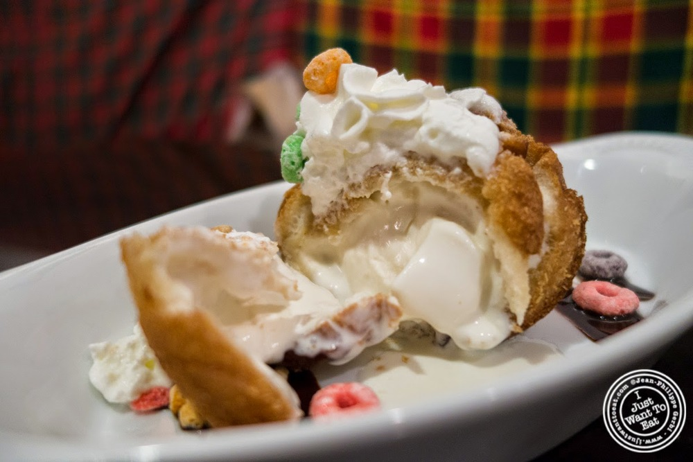 Fried Ice Cream at Larb Ubol, Thai restaurant in Hell's Kitchen, NYC, New York