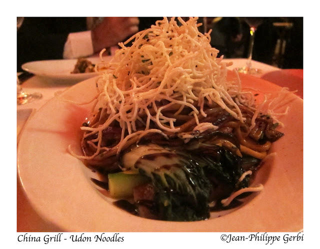 image of udon noodles at China Grill, midtown, NYC, New York