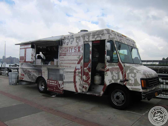 image of Shorty's food truck at Pier 13 in Hoboken, NJ