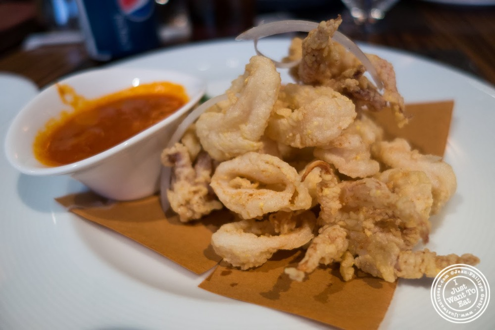 image of fried calamari at Abboccato Italian restaurant in NYC, New York