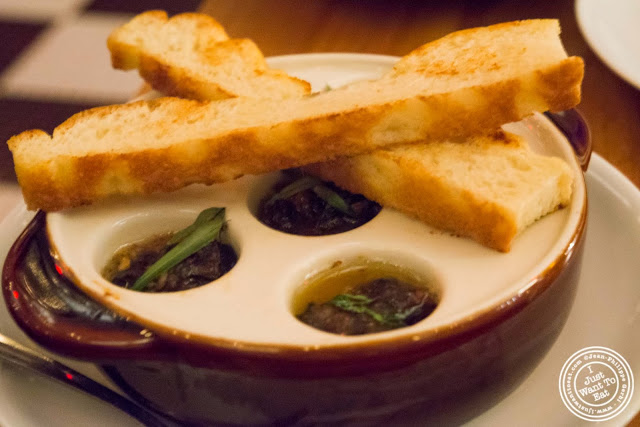 image of roasted snails at Kingside in NYC, New York