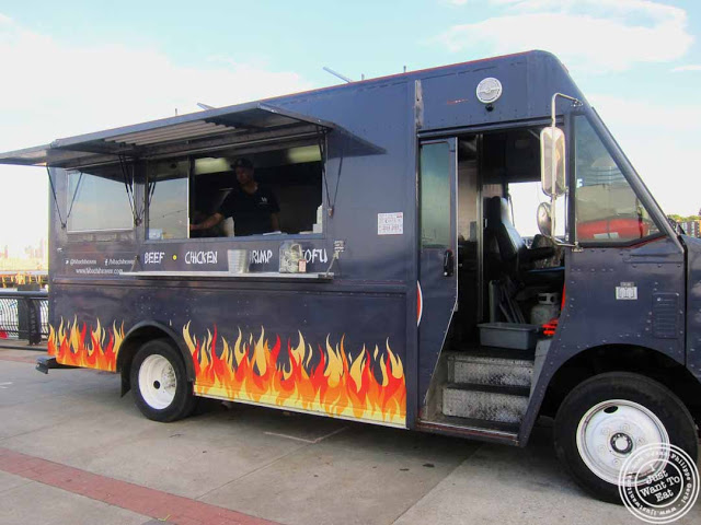 image of Hibachi heaven food truck at Pier 13 in Hoboken, NJ
