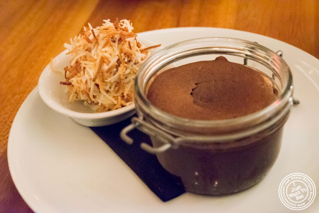 image of warm chocolate cake at Kingside in NYC, New York