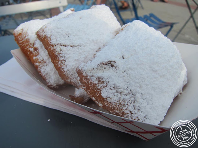 image of Beignets at The French Quarter food truck at Pier 13 in Hoboken, NJ