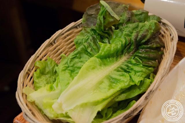 image of lettuce at Kunjip Korean restaurant  in NYC, New York