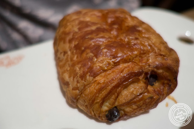 image of pain au chocolat at Le Pain Quotidien in NYC, New York