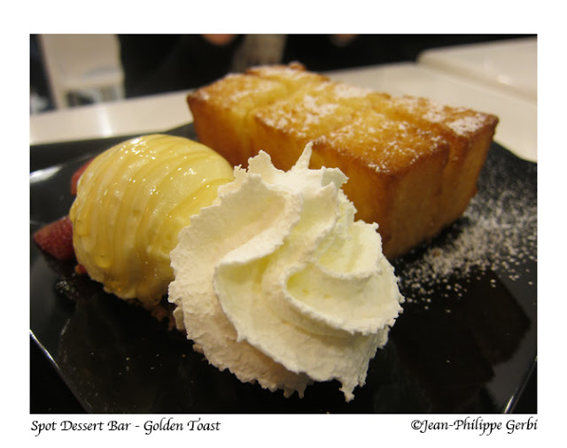 Image of Golden toast at Spot Dessert Bar in Koreatown NYC, New York