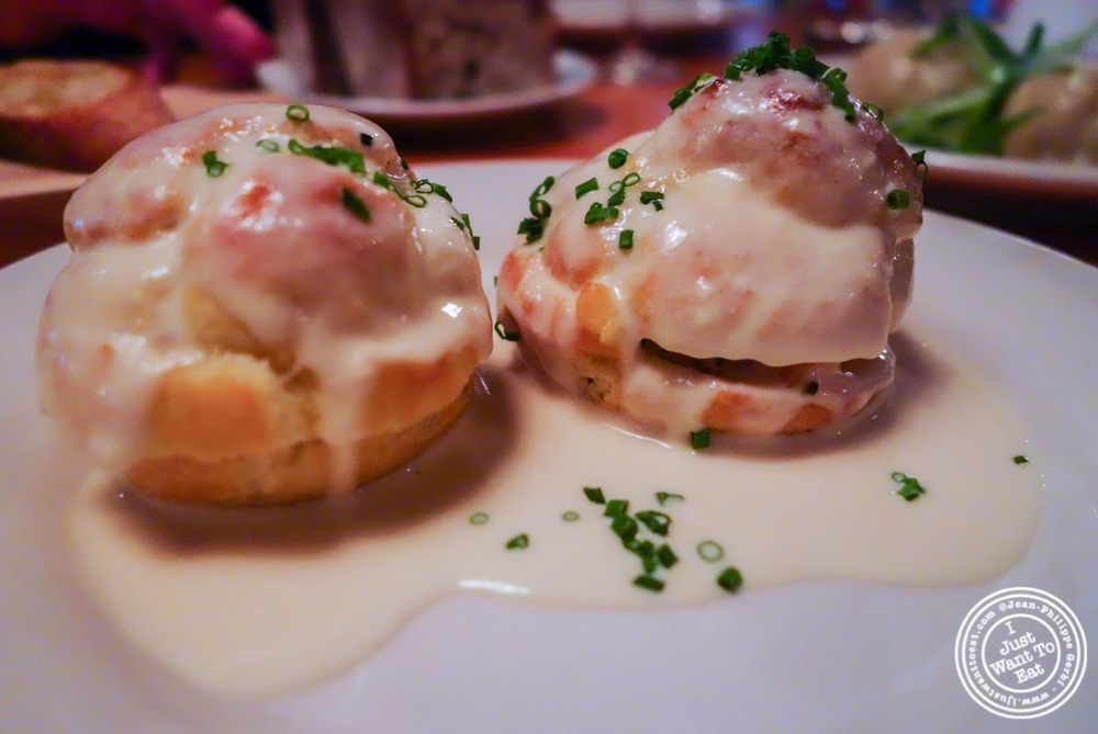 image of Lobster puffs at Left Bank in the West Village, NYC, New York