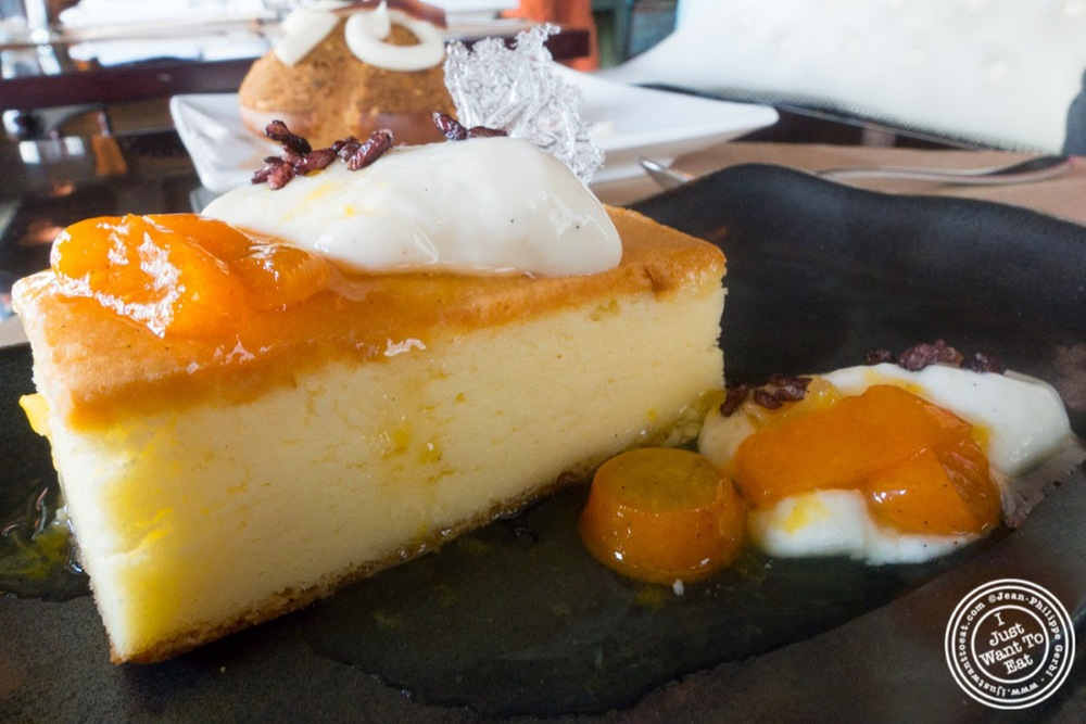 image of Japanese cheese cake at Spice Market in the Meatpacking District, NYC, New York