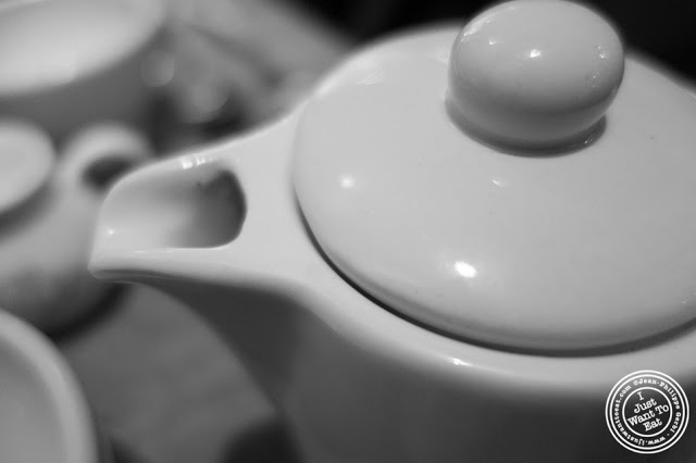 image of tea pot at Le Pain Quotidien in NYC, New York